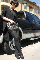 black vintage Feathers Boutique blazer - black f21 dress