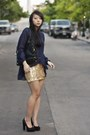 Navy-sheer-topshop-blouse-gold-sequin-charlotte-russe-skirt-black-block-heel