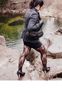 Gray-thrifted-express-blazer-black-f21-dress-black-stockings-asos-gloves-