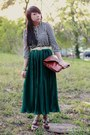 White-striped-forever-21-shirt-brown-leather-asos-bag-dark-green-maxi-americ