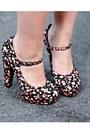 Pink-floral-forever-21-heels