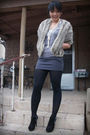 Beige-vintage-coat-gray-f21-shirt-f21-skirt-bakers-boots