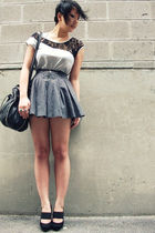 gray f21 skirt