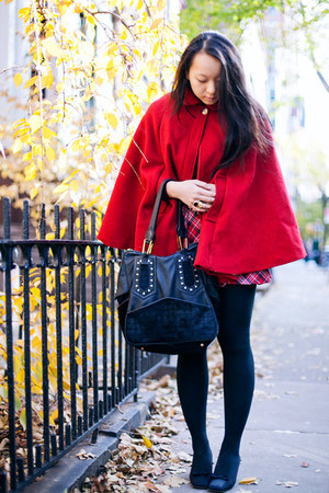 red wool American Apparel cape