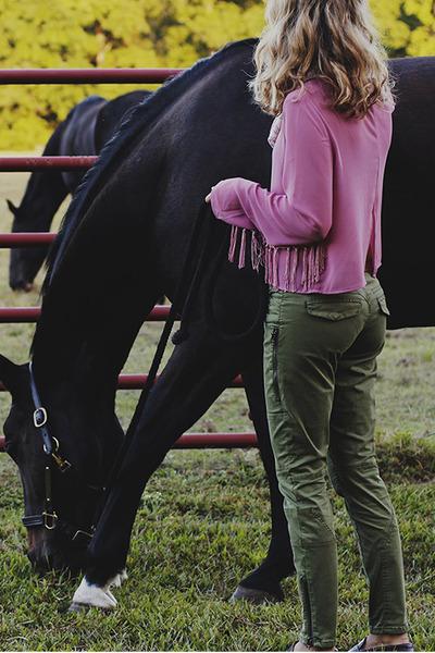 boxy fringe Tusc blouse - blank nyc pants