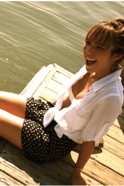 polka dots Audrey 3  1 shorts - Audrey 3  1 blouse