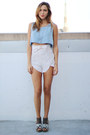 Wedge-qupid-shoes-crepe-solemio-shorts-crop-brandy-melville-top