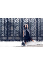 Black-monki-dress-black-balenciaga-bag-white-adidas-sneakers