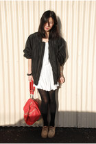 white American Apparel dress - red Alexander Wang bag