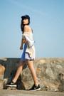 Sky-blue-american-apparel-dress-navy-kate-spade-hat-white-kate-spade-bag