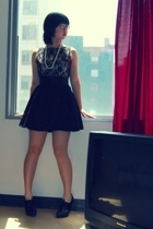 forever 21 dress - forever 21 necklace - H&M shoes