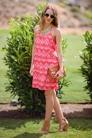 Pink Blush dress - Charlotte Russe heels