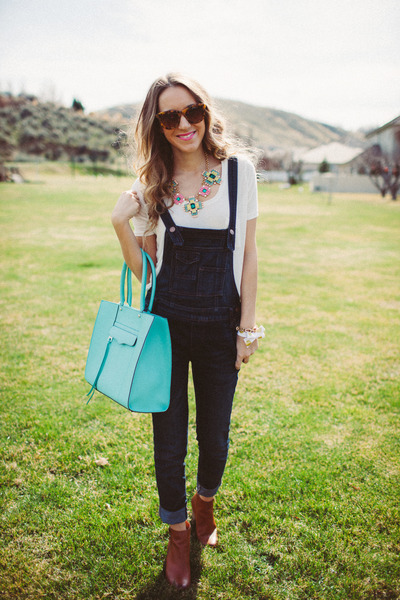 Rebecca Minkoff bag - free people jeans - Accessory Concierge necklace