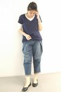 Blue-f21-jeans-navy-f21-top-white-f21-t-shirt