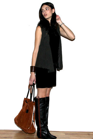 loeffler randall boots - vanessa bruno athe dress - 31 phillip lim bag