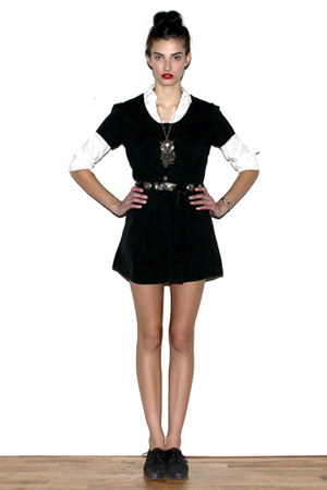 steven alan shirt - Society for Rational Dress dress - ndc shoes - vintage neckl
