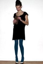 vanessa bruno athe dress - Barbara Bui shoes - vintage bag - HUE tights