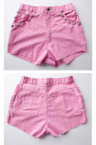 bubble gum cut off shorts
