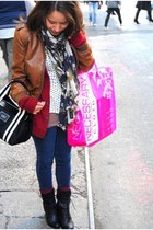 lacost cardigan - H&M scarf - Forever 21 jeans