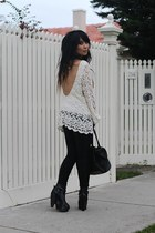 Topshop boots - Sass and Bide leggings - custom made bag - Sportsgirl top