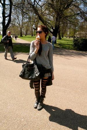 Kurt Geiger boots - black leather Zara jacket - black leather balenciaga bag