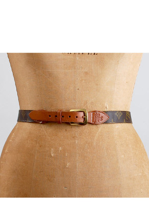 brown vintage Louis Vuitton belt