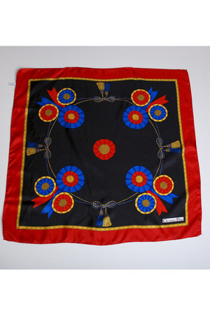 red Vintage Christian Dior scarf