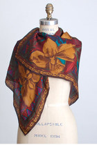 brown vintage scarf