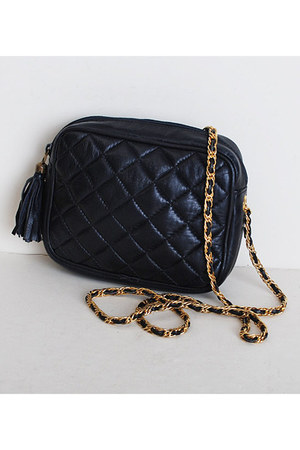 navy vintage bag
