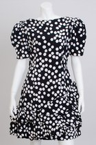 black Vintage Carolina Herrera dress