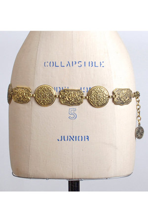 gold vintage belt