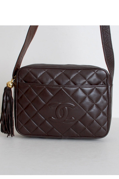 brown vintage chanel bag