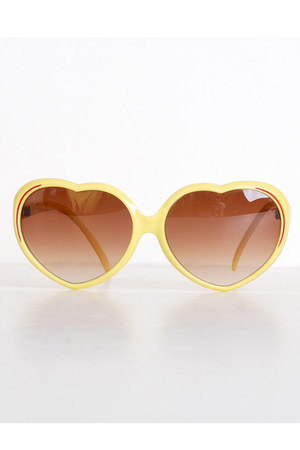 yellow vintage sunglasses