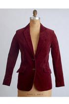 Maroon-vintage-blazer
