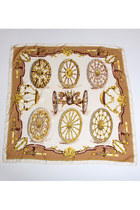 Brown-square-silk-vintage-hermes-paris-scarf
