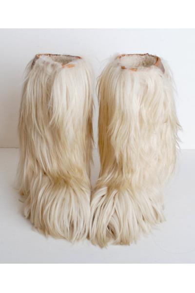 Vintage Boots Quot Size 9 Vintage 70s Oscar Sport Goat Fur