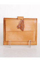 brown vintage wallet