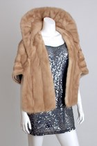 Vintage 50s 60s Honey Blonde Mink Fur Stole