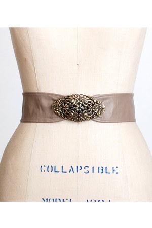 light brown vintage belt