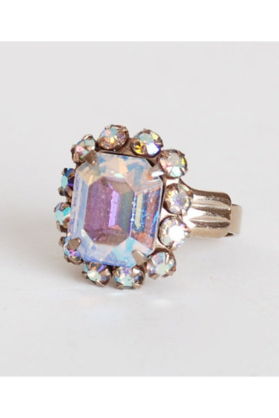 pink vintage ring