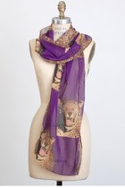 purple vintage scarf