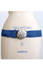 blue vintage belt