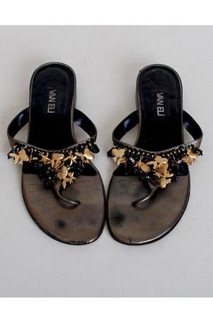 black vintage sandals