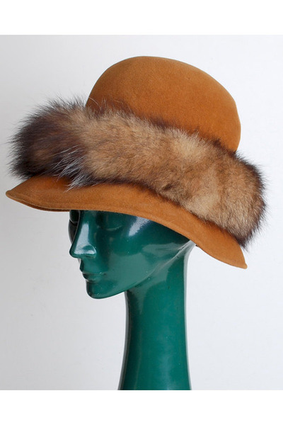 brown vintage hat