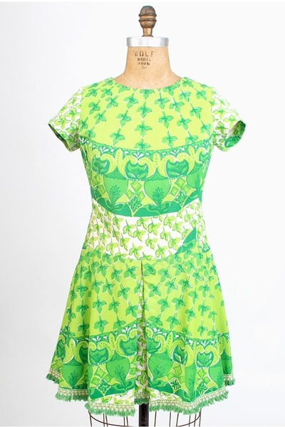chartreuse aline cotton vintage lilly pulitzer dress