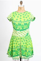 Chartreuse-aline-cotton-vintage-lilly-pulitzer-dress