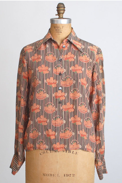 light orange vintage chloe shirt