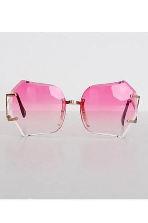 square plastic vintage sunglasses