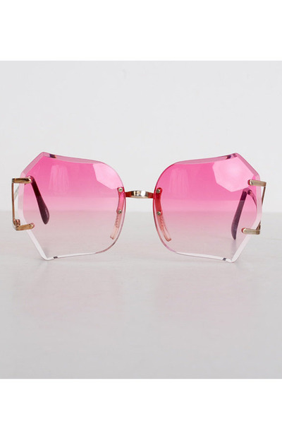 Oversized Vintage Sunglasses  square plastic vintage sunglasses vintage 70s pink gold