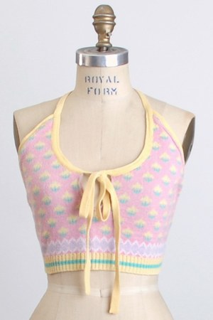 pink Vintage Betsey Johnson Alley Cat top